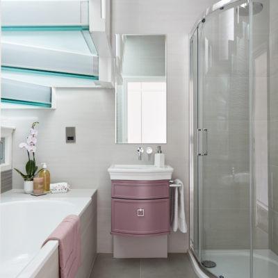 vanity unit pink