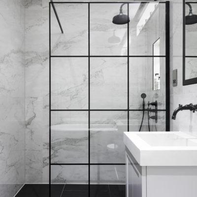 black frame shower