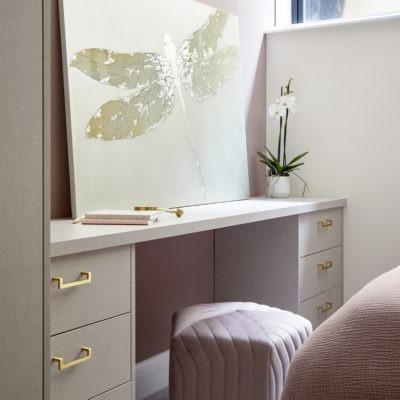 basement pink bedroom dusty